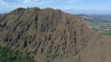 Amazing Flying over Pietra Parcellara Mountain