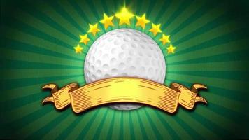 fundo de banner de golfe video
