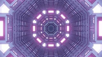 portal de viaje en el tiempo iluminado de color púrpura