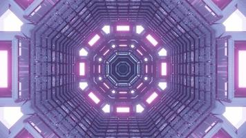 Purple Lighted Time Travel Portal