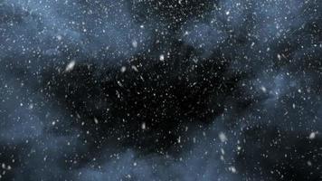bucle de tormenta de nieve fuerte