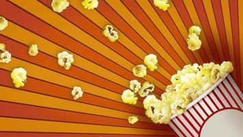 fondo abstracto palomitas de maíz video