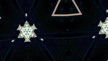 formas caleidoscópicas tecno trance hipnotizan