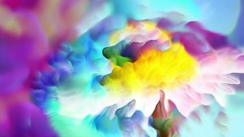 Abstract Colorful Flower Art