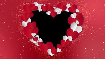 Hearts Frame Animated Background