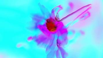 arte abstracto de la flor