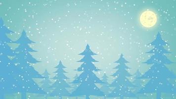 animación de árbol de nieve de navidad