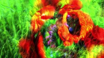 fundo de flores psicodélicas