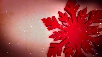 flocon de neige rouge bg