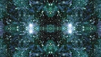 Caleidoscópio de viagem espacial de campo estelar video