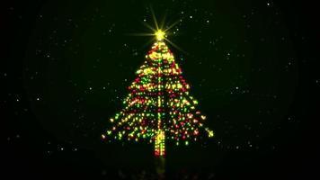 luzes giratórias da árvore de natal video
