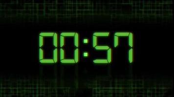 60 segundos de contagem regressiva
