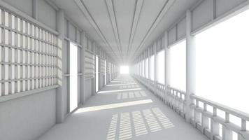 animación de pasillo blanco