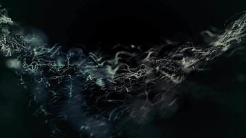 fließende funkelnde Partikel verfolgen den Hintergrund