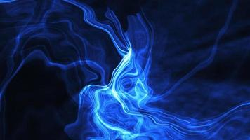 Blue Futuristic Glow Lightning Curved Lines Background