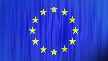 agitando bandeira da união europeia