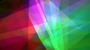 fundo futurista de animação em loop de polígono colorido brilhante