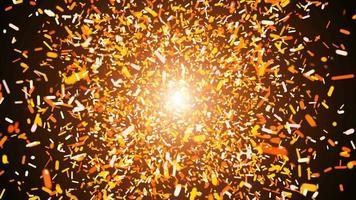 explosão de partículas de poeira colorida