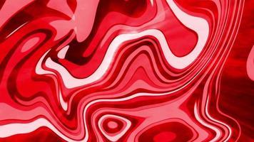 loop de ondas de seda líquida digital rosa-vermelho