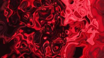 Wavy Red Metallic Liquid Surface
