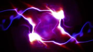 leuchtende elektrische Blitzfunken leuchten
