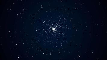 explosão de partículas espaciais