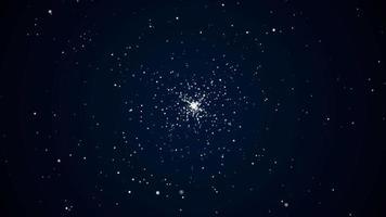 explosion de particules spatiales video