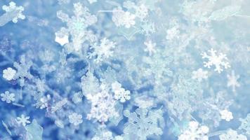 flocons de neige de noël tombant