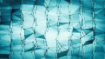 fundo de vídeo de geometria de wireframe abstrato