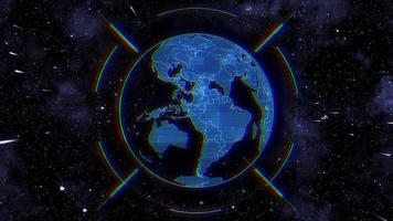 Hud Erde im Weltraum