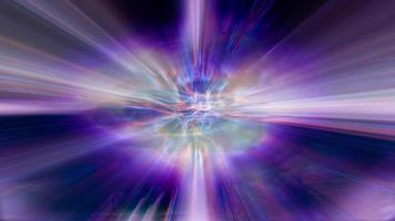 Wellen fraktalen Lichts schimmern