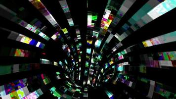 A Tunnel Of Chaotic Data Flux video