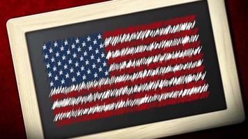 moldura da bandeira americana