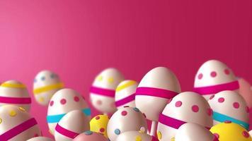 fundo de ovos de páscoa video