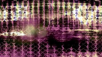 forme di dati astratte si fondono e pulsano video