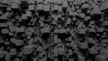 structure géométrique cubique futuriste video