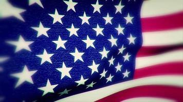 a bandeira americana balançando ao vento