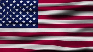 la bandera de Estados Unidos ondea en la brisa