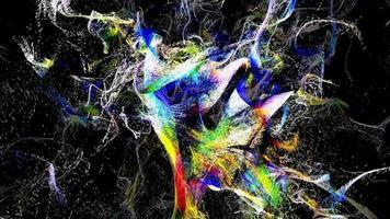 partículas microscópicas explodem caoticamente video