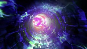 un tunnel digitale di fili di luce