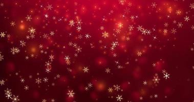 sfondo di Natale con particelle di fiocco di neve