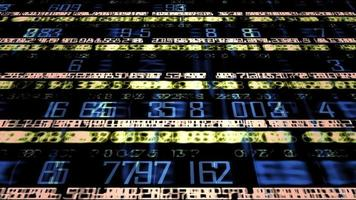 Futuristic Technology Numerical Ticker video
