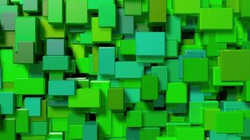 fondo de video de cubos verdes
