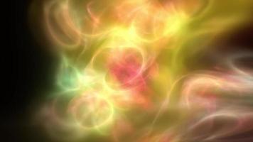 formas de luz fractal dourado brilham