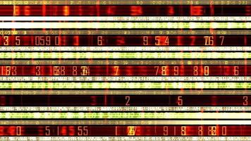 Futuristic Data Ticker With Rows Of Numbers And Light Effects video