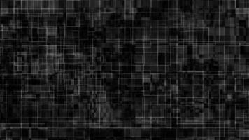 Tecnología de líneas de neón sobre fondo de cuadrícula.