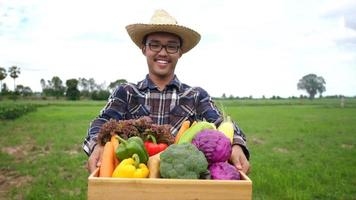Farmers Raises Organic Vegetable Crate