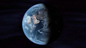 Planet Earth Rotates In Space