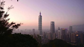 secuencia de timelapse de taipei, taiwán