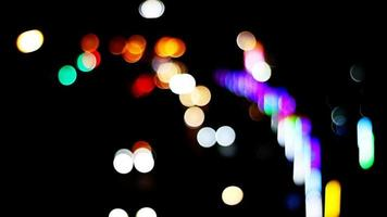 Blur and bokeh of vehicles on the road at night